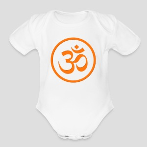 Orange Om - Short Sleeve Baby Bodysuit