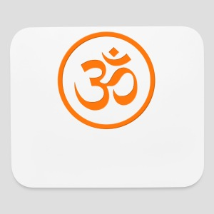 Orange Om - Mouse pad Horizontal