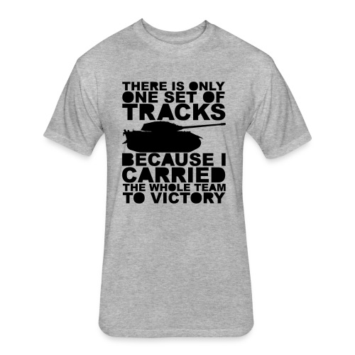 Carry Harder (Women) - Fitted Cotton/Poly T-Shirt by Next Level