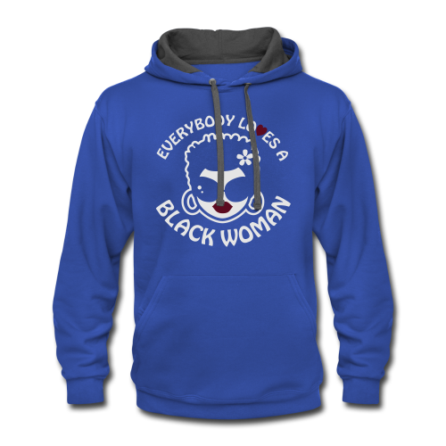 Everybody Loves A Black WOMAN (version 2 - 3xl-4xl- reverse) - Contrast Hoodie
