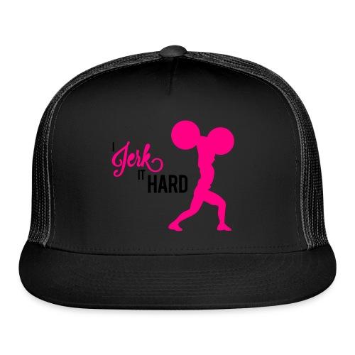 Hard Jerk Tee (Black) - Trucker Cap