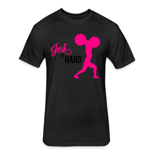 Hard Jerk Tee (Black) - Fitted Cotton/Poly T-Shirt by Next Level