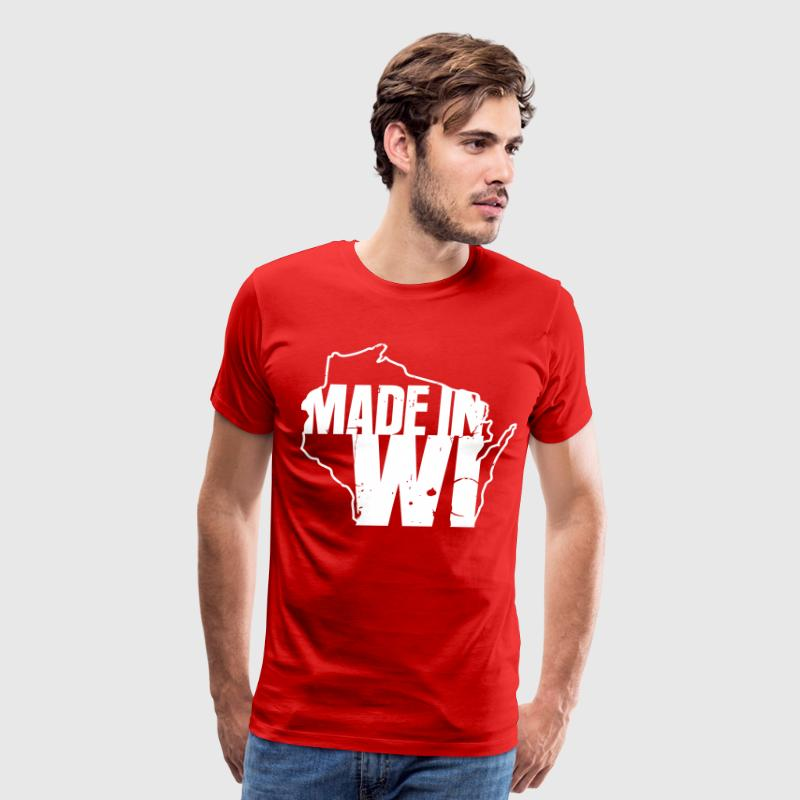 MADE IN WISCONSIN T-Shirts - Men's Premium T-Shirt