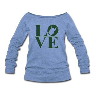 West Virginia Love - Women's Wideneck Sweatshirt