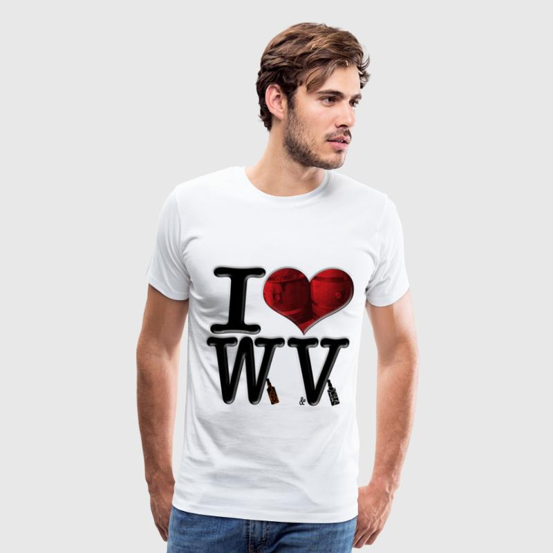 I Love WV - Whiskey & Vodka (for light apparel) T-Shirts - Men's Premium T-Shirt