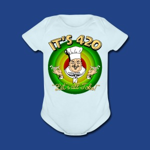 It's 420 - Let's all Toke! - Short Sleeve Baby Bodysuit