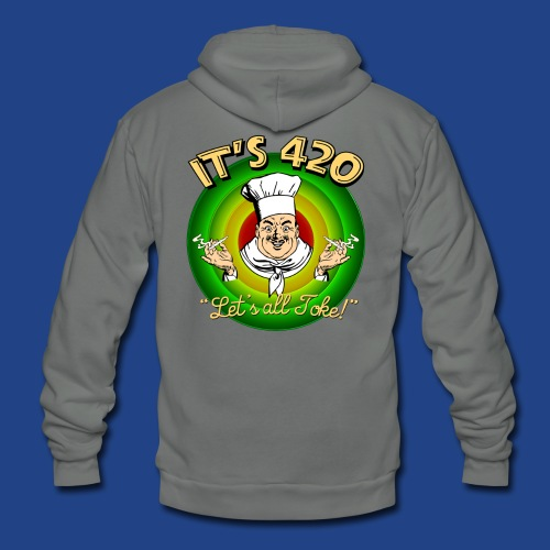 It's 420 - Let's all Toke! - Unisex Fleece Zip Hoodie