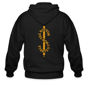 Started From The Bottom - T-Shirt - Men's Zip Hoodie