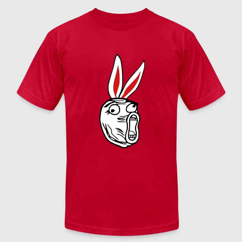 LOL - Easter Bunny edition internet meme - Men's T-Shirt by American Apparel