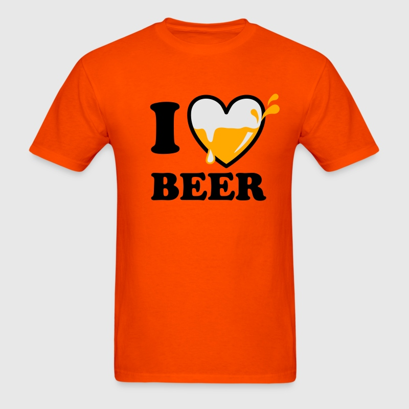 I love beer 3c alcohol wine vodka whiskey Funny Pa - Men's T-Shirt