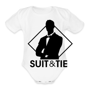Suit & Tie - Short Sleeve Baby Bodysuit