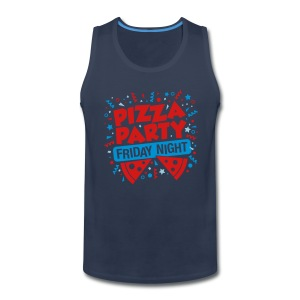 Pizza Party Friday Night - Men's Premium Tank