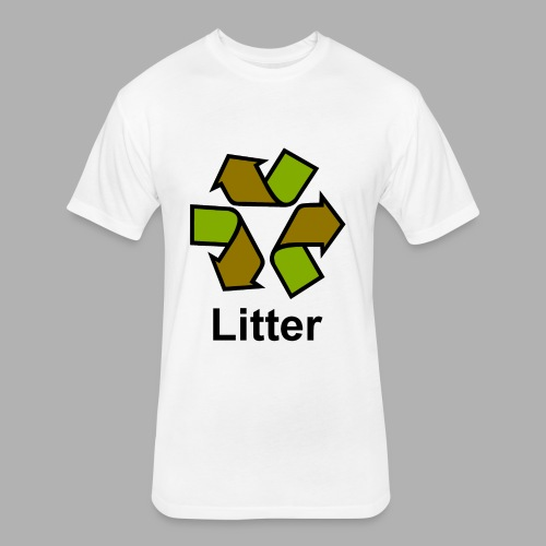 Litter - Fitted Cotton/Poly T-Shirt by Next Level