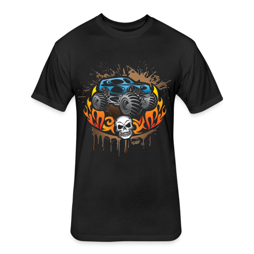 Monster Truck Tattoo - Fitted Cotton/Poly T-Shirt by Next Level