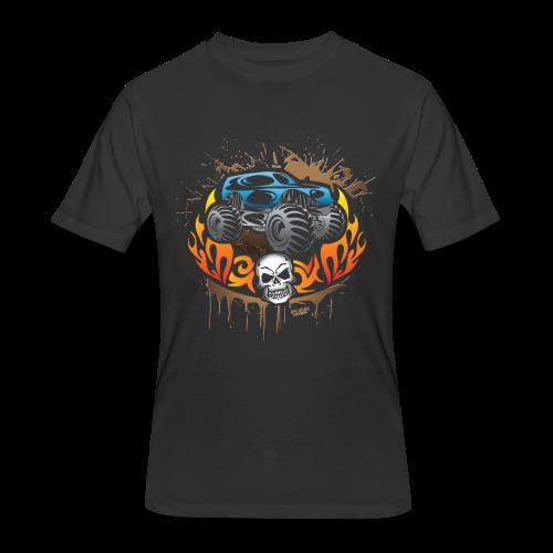Monster Truck Tattoo - Men's 50/50 T-Shirt