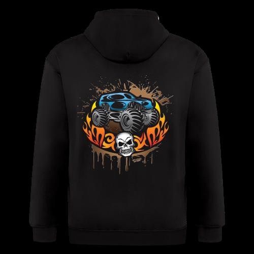 Monster Truck Tattoo - Men's Zip Hoodie