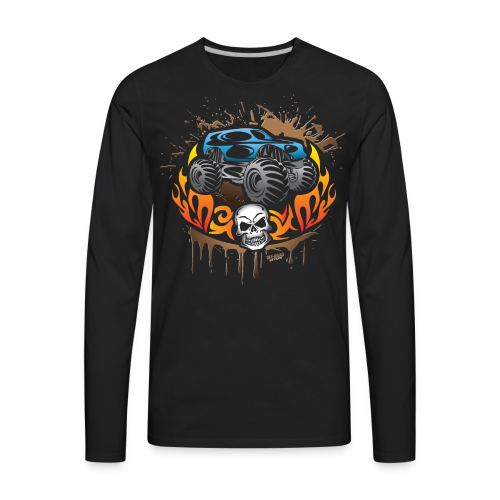 Monster Truck Tattoo - Men's Premium Long Sleeve T-Shirt