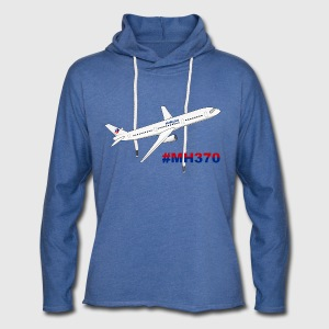 Malaysia Airlines MH370 Men - Unisex Lightweight Terry Hoodie