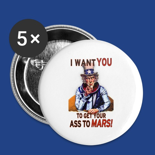 Uncle Sam - Mars - Buttons small 1'' (5-pack)