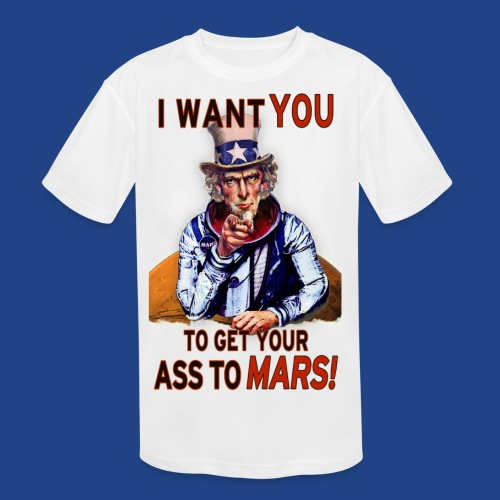 Uncle Sam - Mars - Kid's Moisture Wicking Performance T-Shirt