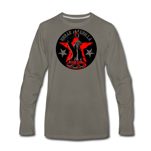 Urban Grilla, barbecue chef / cook - Men's Premium Long Sleeve T-Shirt