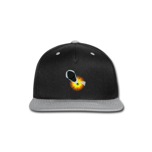 Gunshot, 3D comicbook, bullet hole, chest t-shirt - Snap-back Baseball Cap