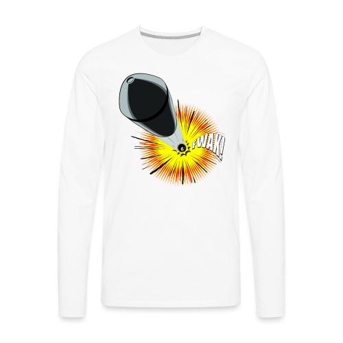 Gunshot, 3D comicbook, bullet hole, chest t-shirt - Men's Premium Long Sleeve T-Shirt