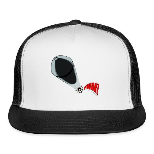 Gunshot, 3D comicbook, bullet hole, chest t-shirt - Trucker Cap