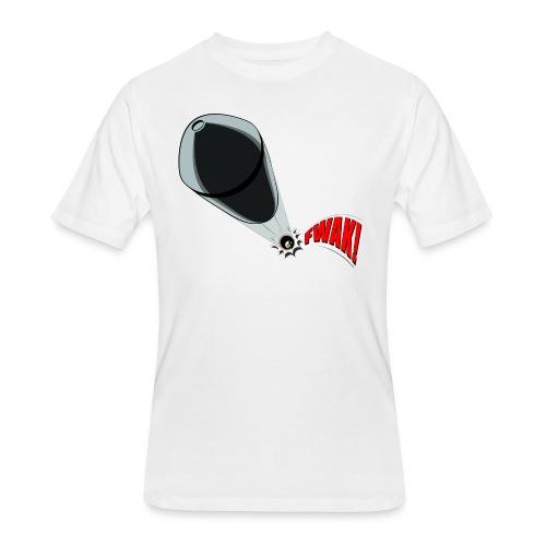 Gunshot, 3D comicbook, bullet hole, chest t-shirt - Men's 50/50 T-Shirt