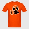 Orange gas mask  T-Shirts - Men's T-Shirt