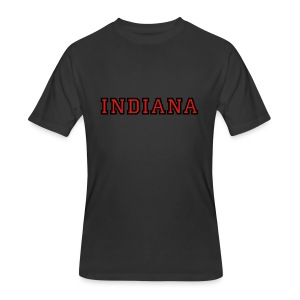 Indiana College Style T-Shirt - Men's 50/50 T-Shirt