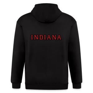 Indiana College Style T-Shirt - Men's Zip Hoodie
