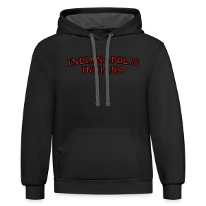 Indianapolis, Indiana College Style T-Shirt - Contrast Hoodie