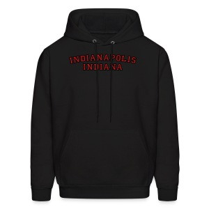 Indianapolis, Indiana College Style T-Shirt - Men's Hoodie