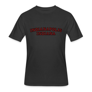 Indianapolis, Indiana College Style T-Shirt - Men's 50/50 T-Shirt