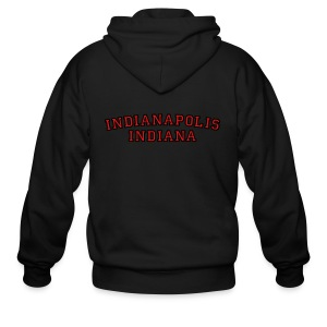 Indianapolis, Indiana College Style T-Shirt - Men's Zip Hoodie
