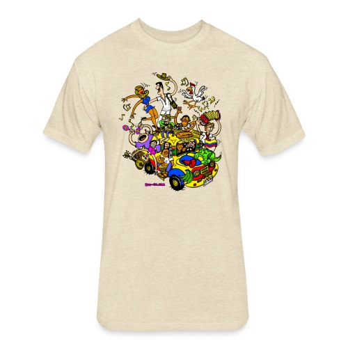 Chiva Colombiana - Fitted Cotton/Poly T-Shirt by Next Level