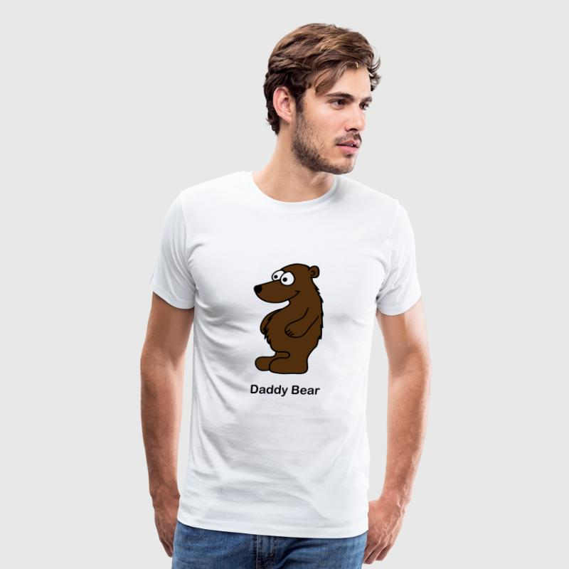 White Daddy Bear T-Shirts - Men's Premium T-Shirt