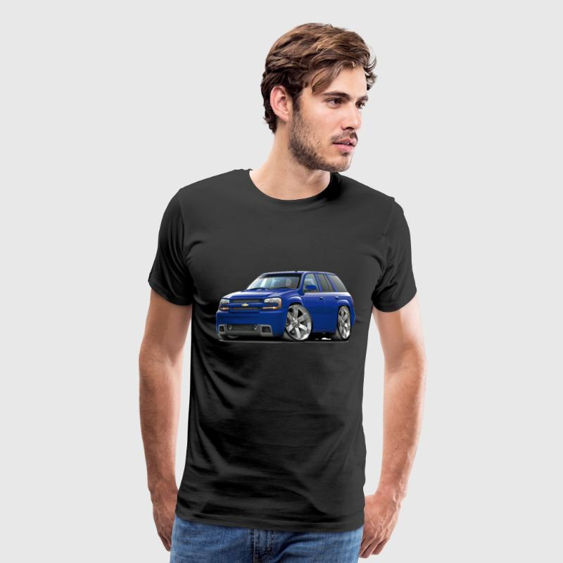 Chevy Trailblazer SS Blue Truck - Men's Premium T-Shirt