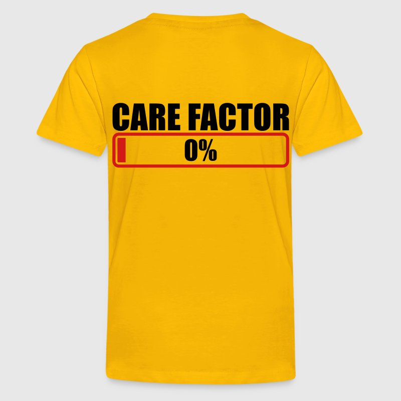 CARE FACTOR 0% progress bar Kids' Shirts - Kids' Premium T-Shirt
