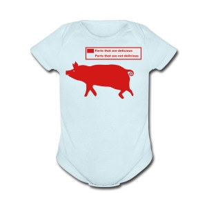 Pig Butchering Guide - Men's Tank - Short Sleeve Baby Bodysuit