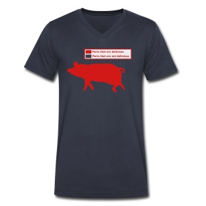 Pig Butchering Guide - Men's Tank - Men's V-Neck T-Shirt by Canvas