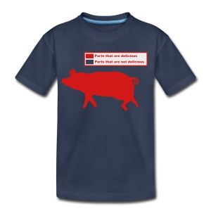 Pig Butchering Guide - Men's Tank - Toddler Premium T-Shirt
