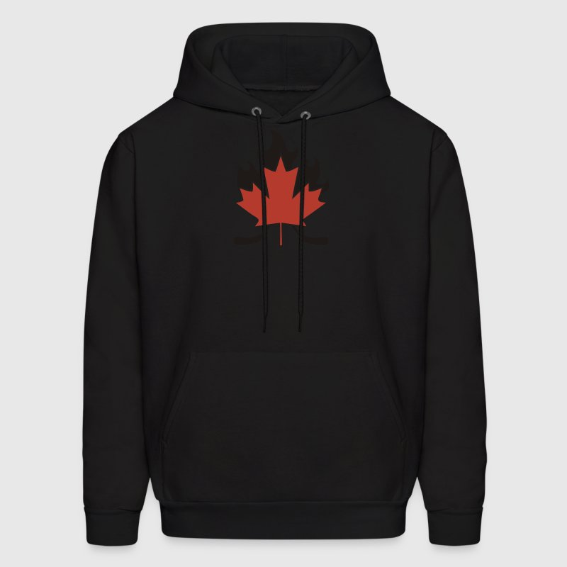 Maple Leaf Hockey Stick Cross - Men's Hoodie