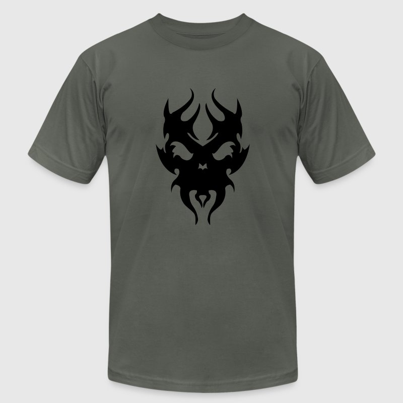 Tribal skull - Men's T-Shirt by American Apparel