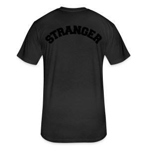 STRANGER mens hoodie - design on BACK - Fitted Cotton/Poly T-Shirt by Next Level