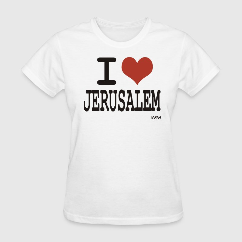 White i love jerusalem by wam Women's T-Shirts - Women's T-Shirt