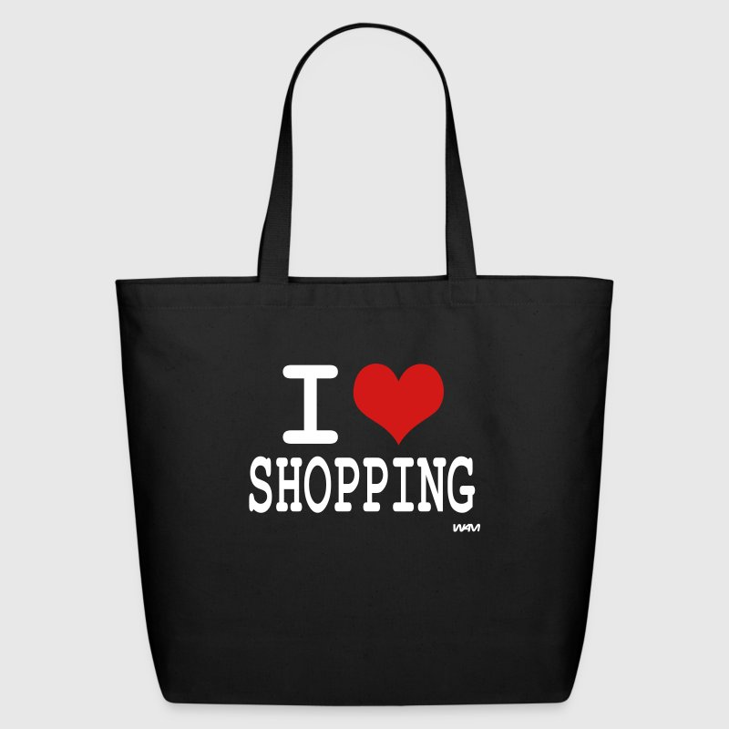 Black i love shopping by wam Bags  - Eco-Friendly Cotton Tote