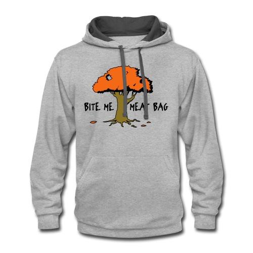 Bite Me Meatbag hoodie - Contrast Hoodie