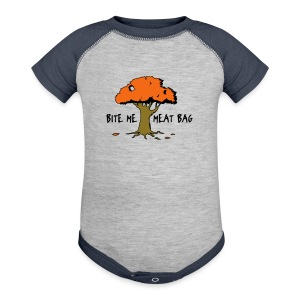 Bite Me Meatbag hoodie - Baby Contrast One Piece